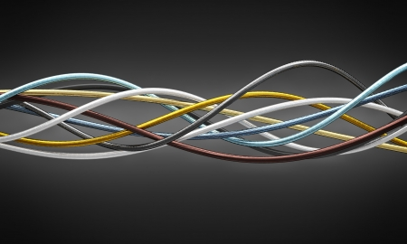 metal cable 3d fine background
