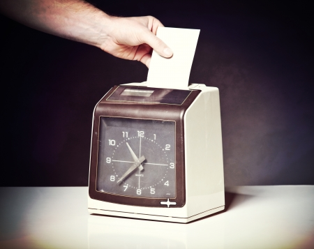 image of vintage check clock