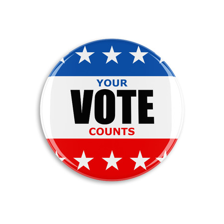Photo for 3d usa vote button on white background - Royalty Free Image
