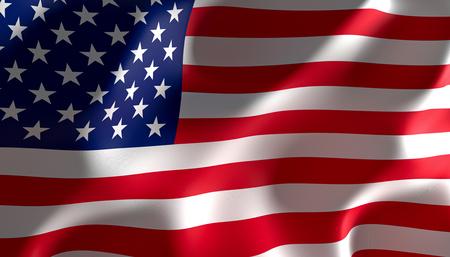 Photo pour 3d image rendering of a united states of america flag - image libre de droit
