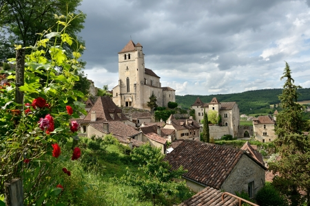 this small French village of Saint-cirq-Lapopie, is classified a historical monument