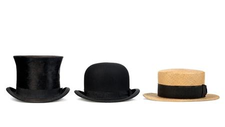 Foto de three old hats originated former - Imagen libre de derechos