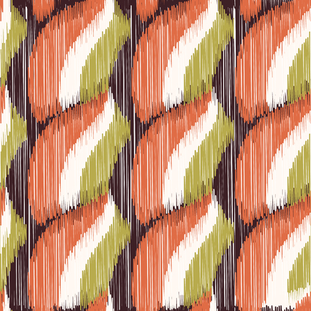 Illustration pour Seamless Ikat Pattern. Abstract  background for textile design, wallpaper, surface textures, wrapping paper. - image libre de droit