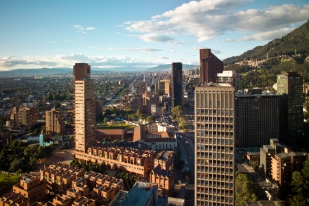 Panoramic view of the financial district of Bogota, Colombia