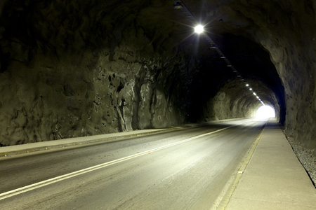 Photo for Empty tunnel in Chile - Royalty Free Image