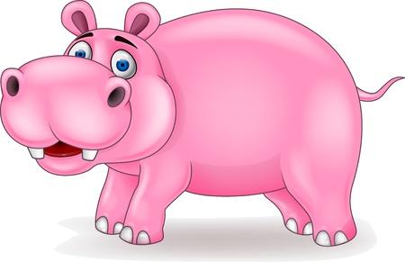 Ilustración de Hippo cartoon - Imagen libre de derechos