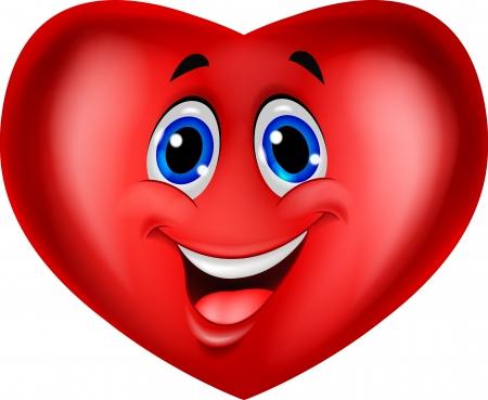 Cute smiling heart symbol