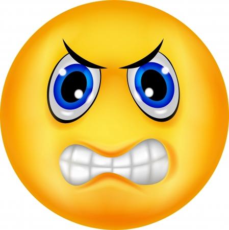 Angry emoticon cartoon