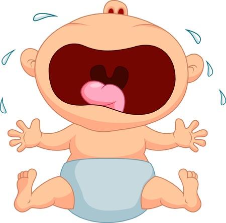 Foto de Baby boy cartoon crying - Imagen libre de derechos