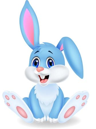 Ilustración de Cute rabbit cartoon  - Imagen libre de derechos