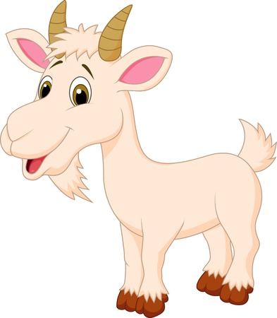 Goat cartoon character のイラスト素材
