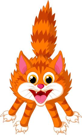 Illustration pour Cute cat cartoon screaming  - image libre de droit