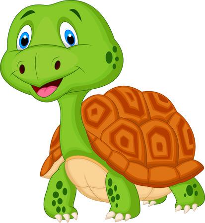 Illustration pour Cute turtle cartoon  - image libre de droit