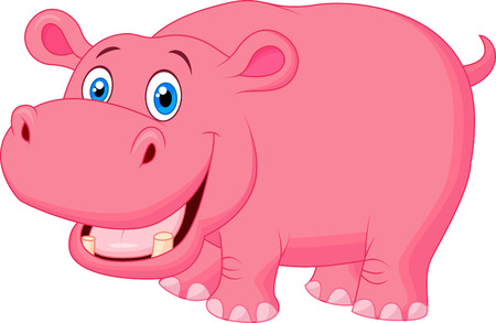 Ilustración de Cute hippo cartoon  - Imagen libre de derechos