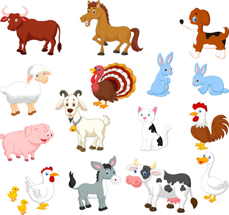 Photo pour Farm animal collection set  - image libre de droit