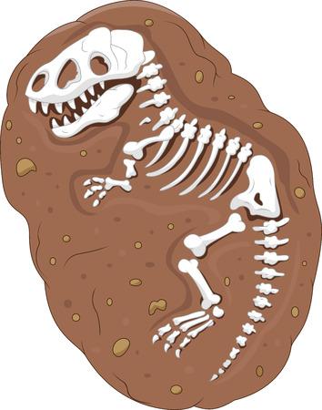 Cartoon Tyrannosaurus rex fossil