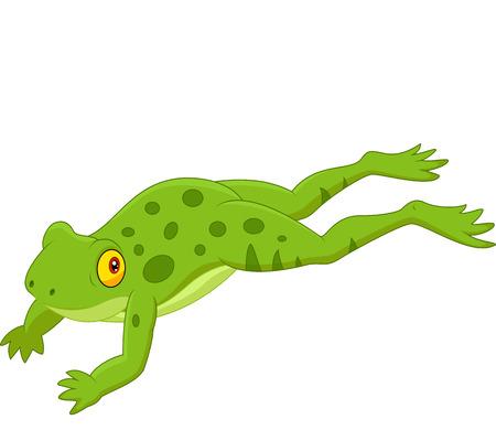 Cute frog jumping