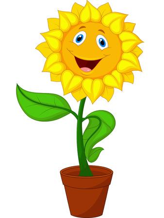 Illustration pour Sunflower cartoon - image libre de droit