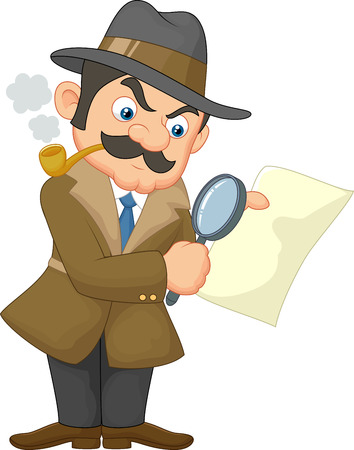 Cartoon Detective Man