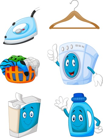Happy cartoon laundry