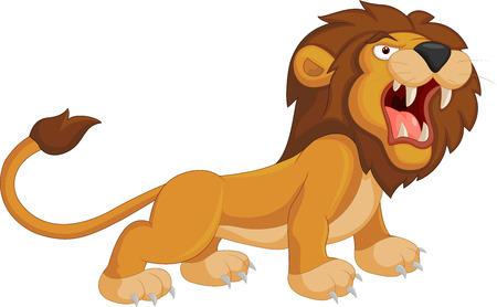 Illustration for Cartoon lion roaring - Royalty Free Image
