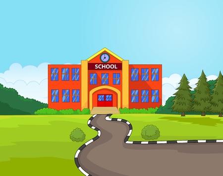 Cartoon school building