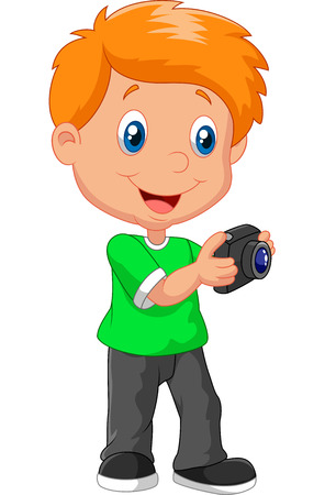 Little boy cartoon holding camera - Dessin petit garcon ...