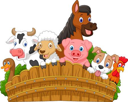 Foto de Collection farm animals cartoon - Imagen libre de derechos