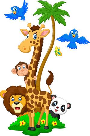 Fun cartoon animal herds