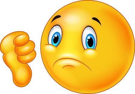 Illustration pour Cartoon dislike smile emoticon - image libre de droit