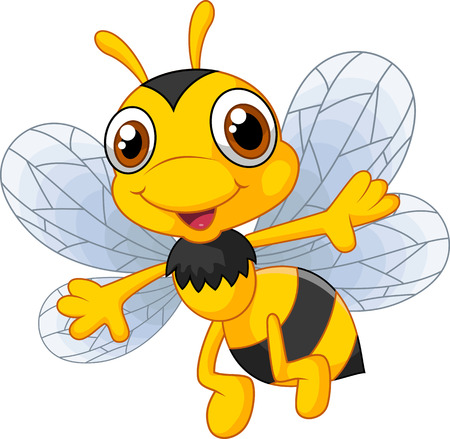 Cartoon cute bees