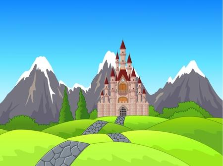 Foto de Beautiful castle on the hill - Imagen libre de derechos