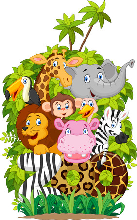 Cartoon collection animal of zooのイラスト素材