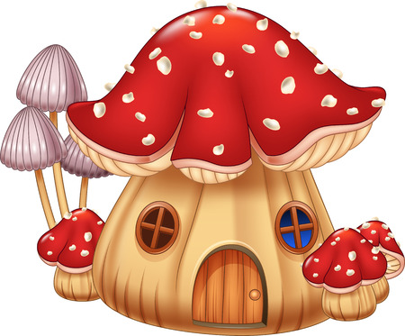 Vector illustration Mushroom house