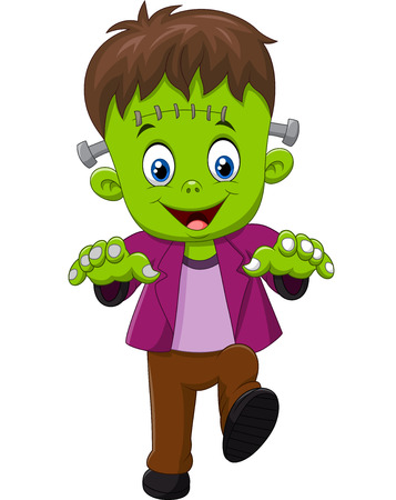 Illustrazione per Vector illustration of Halloween Frankenstein Mascot - Immagini Royalty Free