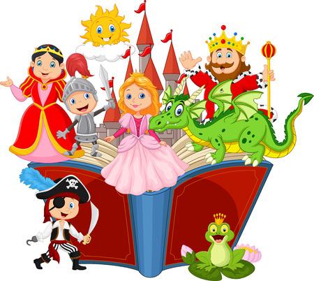 Illustration pour Imagination in a children fairy tail fantasy book - image libre de droit