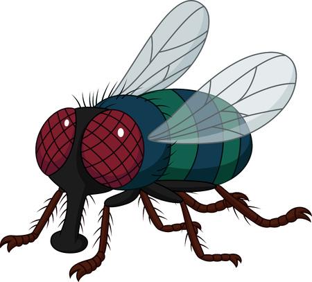 Ilustración de Cartoon house fly isolated on white background - Imagen libre de derechos