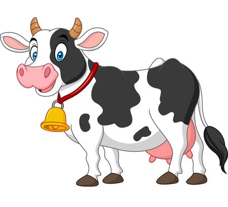 Illustration pour Cartoon happy cow - image libre de droit