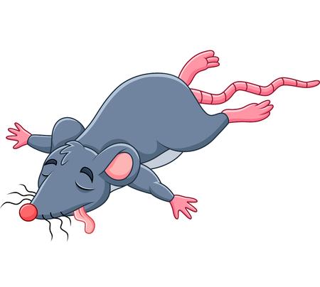 Illustration pour Vector illustration of Cartoon dead mouse - image libre de droit