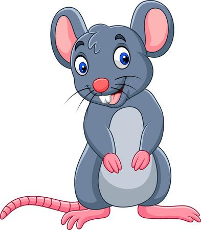 Illustration pour Vector illustration of Cartoon funny mouse - image libre de droit