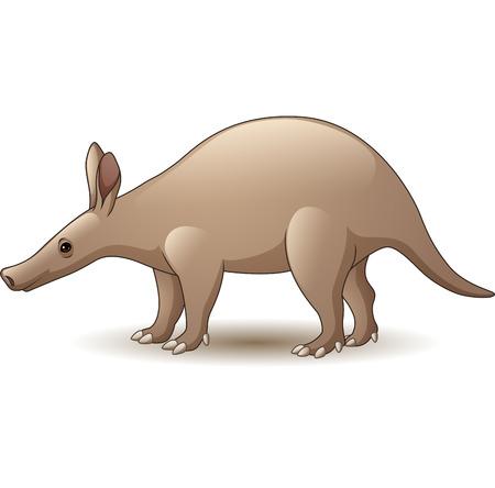 Illustration pour Vector illustration of Cartoon Aardvark isolated on white - image libre de droit