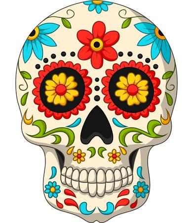 Illustration pour Vector illustration of Day of the Dead Skulls - image libre de droit