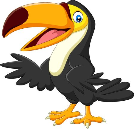 Illustration pour Vector illustration of Cartoon toucan isolated on white background - image libre de droit