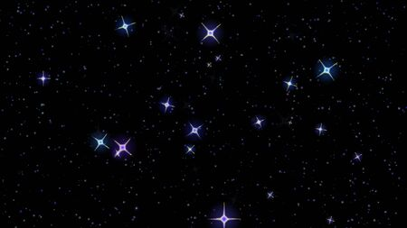 Photo pour flashing stars, starry sky appear and disappear on a black background - image libre de droit