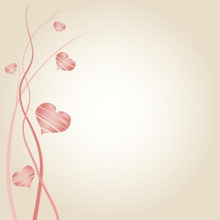 Foto de Romantic wedding announcement decorated with hearts - Imagen libre de derechos