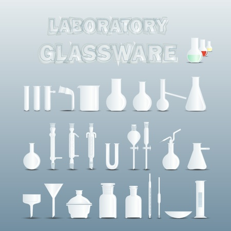 Laboratory glassware used for scientific experiments