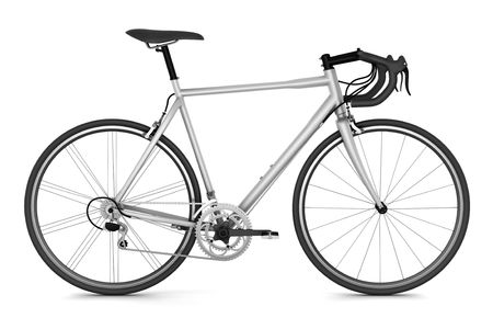 sport bicycle isolated on white background