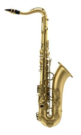 tenor saxophone isolated on white background
