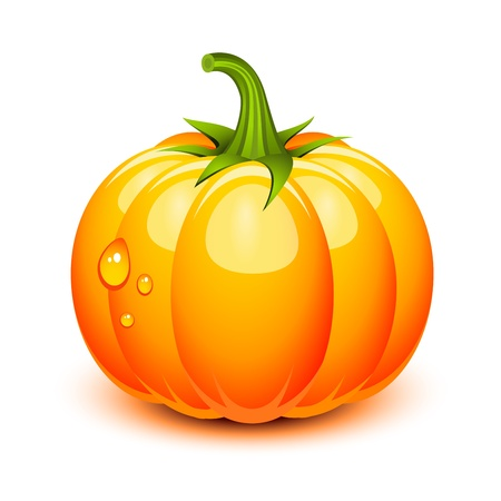 Halloween pumpkin in a glossy style