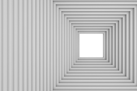 Abstract stepped tunnel with blank space at center